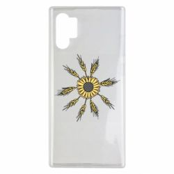 Чехол для Samsung Note 10 Plus Sunflower and spikelets