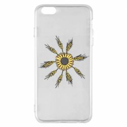 Чехол для iPhone 6 Plus/6S Plus Sunflower and spikelets