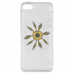 Чехол для iPhone5/5S/SE Sunflower and spikelets