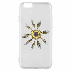 Чехол для iPhone 6/6S Sunflower and spikelets