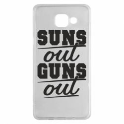 Чехол для Samsung A5 2016 Suns out guns out