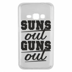 Чехол для Samsung J1 2016 Suns out guns out