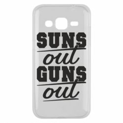 Чехол для Samsung J2 2015 Suns out guns out