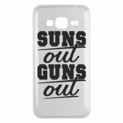 Чехол для Samsung J3 2016 Suns out guns out