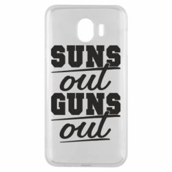 Чехол для Samsung J4 Suns out guns out