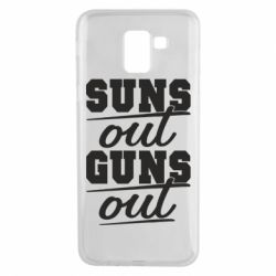 Чехол для Samsung J6 Suns out guns out