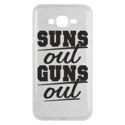 Чехол для Samsung J7 2015 Suns out guns out