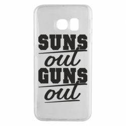 Чехол для Samsung S6 EDGE Suns out guns out