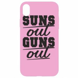 Чехол для iPhone XR Suns out guns out