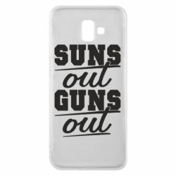 Чехол для Samsung J6 Plus 2018 Suns out guns out