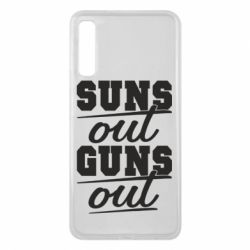Чехол для Samsung A7 2018 Suns out guns out