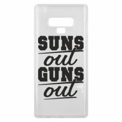 Чехол для Samsung Note 9 Suns out guns out