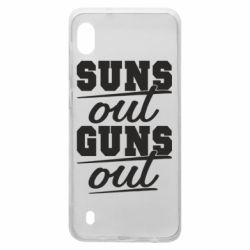 Чехол для Samsung A10 Suns out guns out