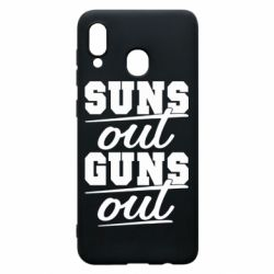 Чехол для Samsung A20 Suns out guns out