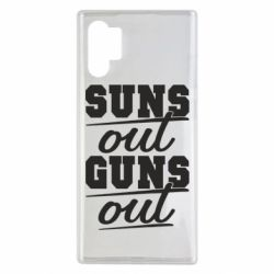 Чехол для Samsung Note 10 Plus Suns out guns out