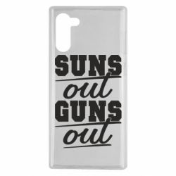 Чехол для Samsung Note 10 Suns out guns out