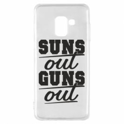 Чехол для Samsung A8 2018 Suns out guns out