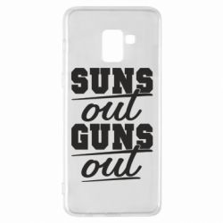 Чехол для Samsung A8+ 2018 Suns out guns out