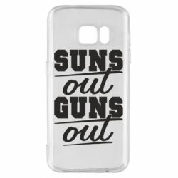 Чехол для Samsung S7 Suns out guns out