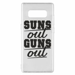 Чехол для Samsung Note 8 Suns out guns out