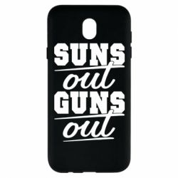 Чехол для Samsung J7 2017 Suns out guns out