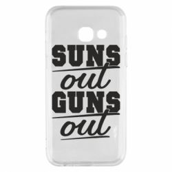 Чехол для Samsung A3 2017 Suns out guns out