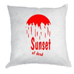 Подушка Sunset of dead