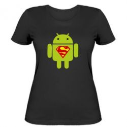 Жіноча футболка Super Android