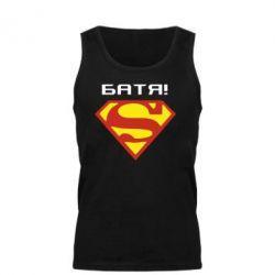 Мужская майка Super Батя - FatLine