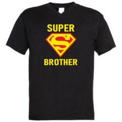 Мужская футболка  с V-образным вырезом Super Brother