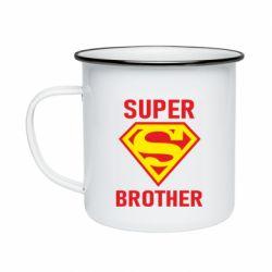 Кружка эмалированная Super Brother
