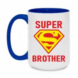 Кружка двухцветная 420ml Super Brother