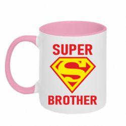 Кружка двухцветная 320ml Super Brother
