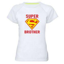 Женская спортивная футболка Super Brother