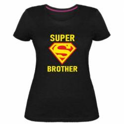 Женская стрейчевая футболка Super Brother