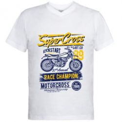 Чоловіча футболка з V-подібним вирізом Super Cross 1989