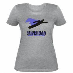 Жіноча футболка Super dad flies