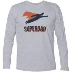 Футболка з довгим рукавом Super dad flies