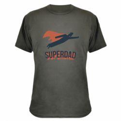 Камуфляжна футболка Super dad flies