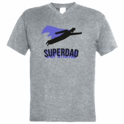 Чоловіча футболка з V-подібним вирізом Super dad flies