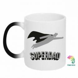 Кружка-хамелеон Super dad flies