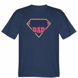 Мужская футболка Super dad text