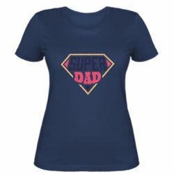 Женская футболка Super dad text
