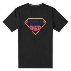 Мужская стрейчевая футболка Super dad text