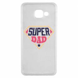 Чехол для Samsung A3 2016 Super dad text