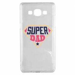 Чехол для Samsung A5 2015 Super dad text