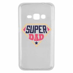 Чехол для Samsung J1 2016 Super dad text