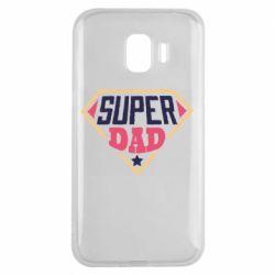 Чехол для Samsung J2 2018 Super dad text