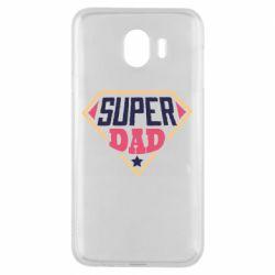 Чехол для Samsung J4 Super dad text