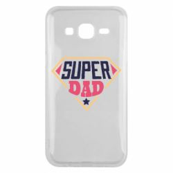 Чехол для Samsung J5 2015 Super dad text